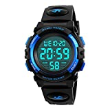 Men's Digital Sport Watch Led Military Waterproof Electronic Wrist Watch with Alarm Stopwatch Calendar Date for men – Blue