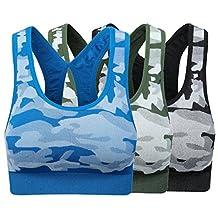 Women's padded Sports Bra Racerback Yoga Bras Pack