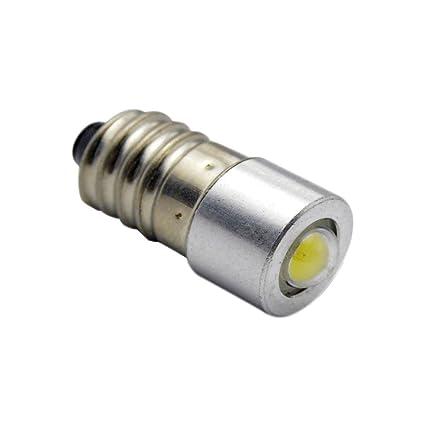 Ruiandsion E10 - Bombilla LED de 3 a 18 V CC, 1 W, 6000
