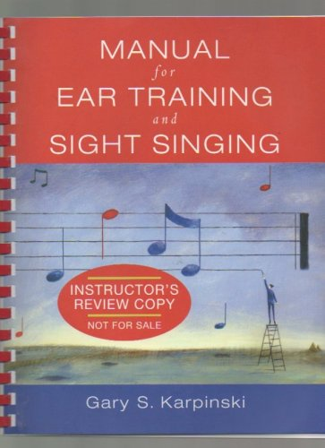 Manual for Ear Training and Sight Singing ( Plastic Comb)