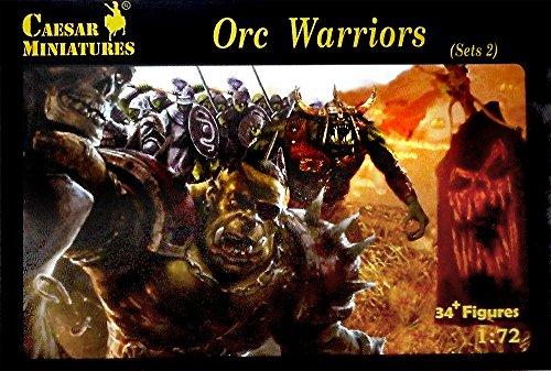 - Caesar Miniatures - ORC Warrior Figures Set 2 Set 109. 1/72 Scale
