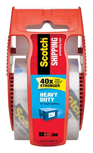 3m 143 2-Inch Clear Scotch Packaging Tape With Sure Start Dispenser