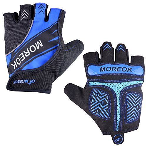 Lightweight Windproof Gloves - MATT SAGA Cycling Gloves Reflective Fingerless Bicycle Gloves, Gel Padded Mountain Road Bike Gloves Men Women, Half Finger Riding Gloves