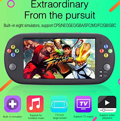 Smart-US Handheld Game Consoles Double Rocker 16GB 7 Inch high Definition Screen 1500 Classic Game, Support Video & Music Playing megapixel Camera Birthday and New Year's Best Gift for Kids by Smart-US (Image #4)