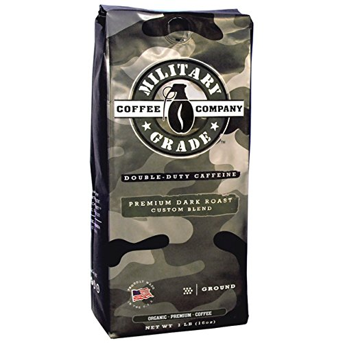 Military Grade Ground Coffee, The Strongest Coffee On The Planet, Organic - 16 Oz. Bag
