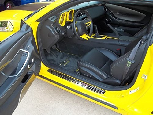 Chevrolet Camaro SS Floor Mats Dual Rally Yellow Logos with Yellow Binding 2010 2011 2012 High-End by Lloyd Mats (Rally Yellow Camaro compare prices)