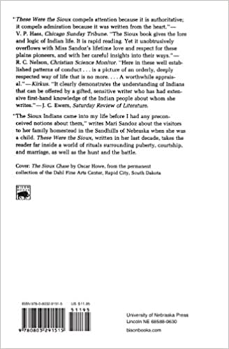 These Were the Sioux (Bison Book S): Mari Sandoz: 9780803291515 ...