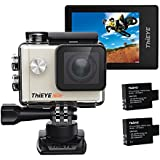 ThiEYE i60e 4K Wifi Action Camera, 197FT Waterproof Sports Action Camera 2 HD Screen with 170 Wide Angle, APP Control and Full Accessories Silver