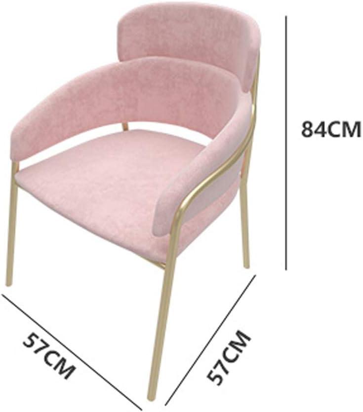 ZT Chaise de salle à manger simple, dossier créatif, chaise de loisirs, chaise de salle à manger pour adulte, durable rose Bleu Marine