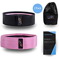 2-Pack Muzii Fabric Exercise Bands Set for Legs and Butt