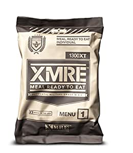 X MRE Meals 1300XT Single Meal with Heater (Meal Ready to Eat Military Type) (Menu May Vary)