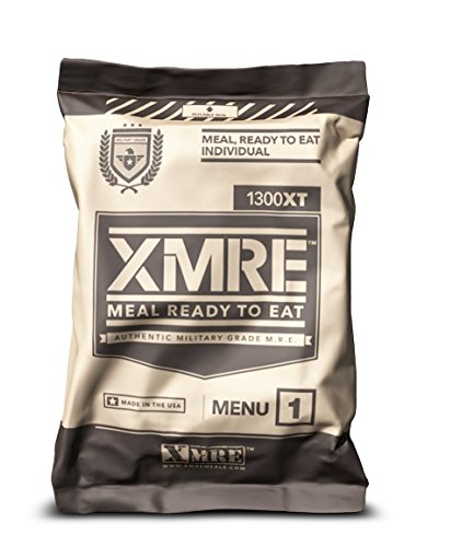 X MRE Meals 1300XT Single Meal with Heater (Meal Ready to Eat Military Type) (Menu May Vary) (Best Tasting Mre 2019)