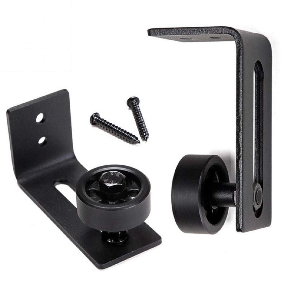 Fully Adjustable 8 Different Settings Barn Door Floor Guide Rollers for All barn Doors Black ming