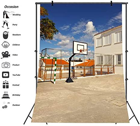 Aofoto Schule Basketballfeld Hintergrund Kamera