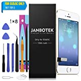 JANBOTEK Replacement Battery Compatible iPhone 5S / 5C - Repair Kit Tools, Adhesive & Instructions 1560 mAh 0 Cycle Battery - 24-Month Warranty
