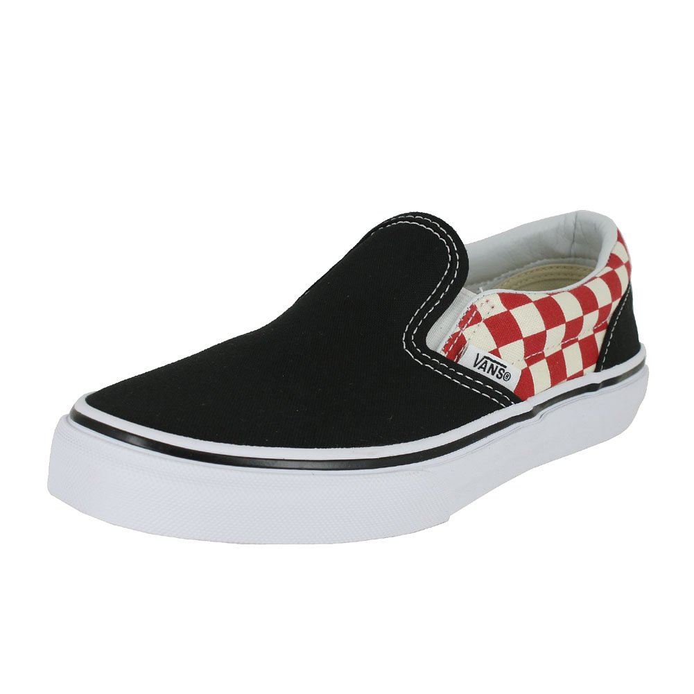 ece8b0dab7 Galleon - Vans Kids Classic Slip-On (Checkerboard) Black Red VN0A32QI35U Kids  Size 2