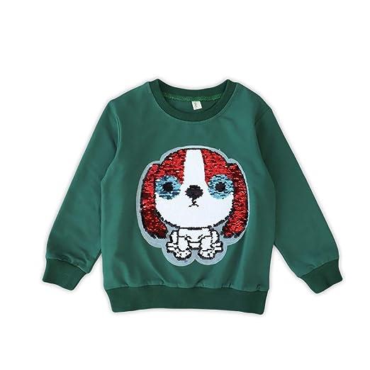 The Amazing BRUSH SEQUIN T-SHIRT Reversible PUPPY DOG UNICORN Girls Present Gift