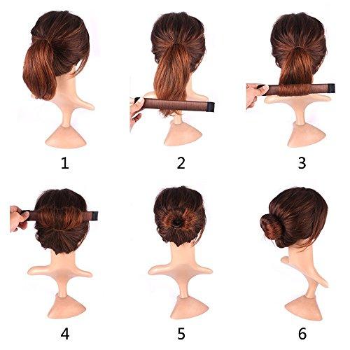 durable modeling Chignon de cheveux Maker, Mytobang 1 pcs femmes filles  facile Bun Maker Magic DIY