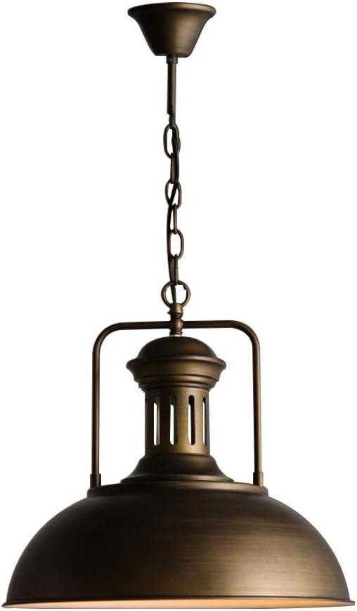 Lámpara Colgante Φ 40 Cm Bronce Metal Edison Industrial Lámpara ...