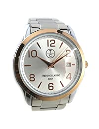 Wrist watch 'french touch' 'Trendy'golden silvery.