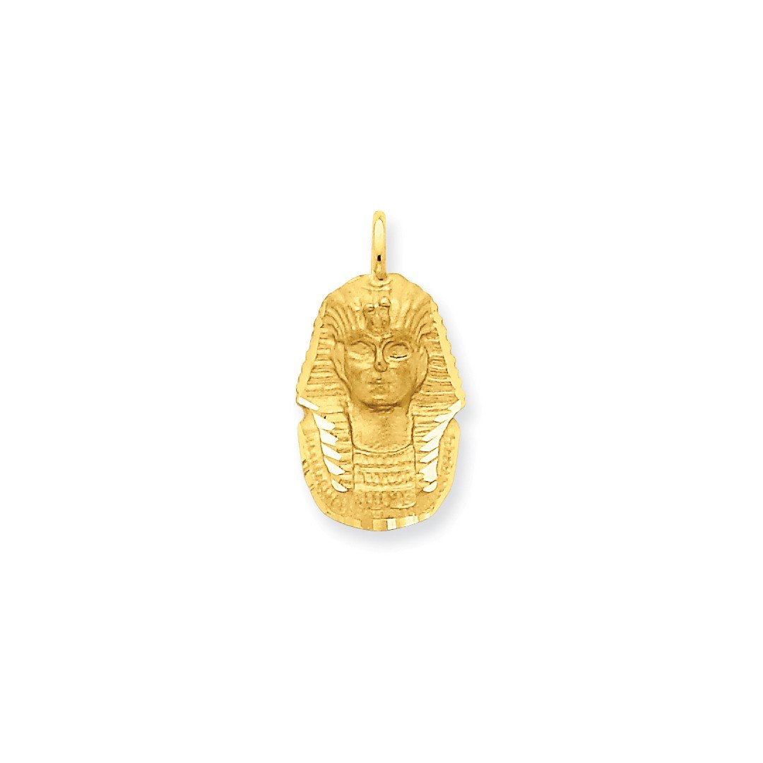 ICE CARATS 14k Yellow Gold King Tut Pendant Charm Necklace Travel Transportation Fine Jewelry Gift Set For Women Heart