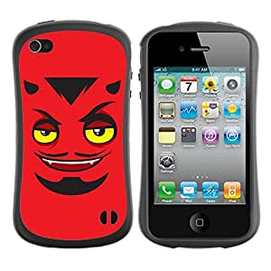 fashion Case for Apple iPhone 5c for kids / Devils Face