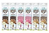 Milk Magic Milk Flavoring Straws Bundle: 2 Chocolate, 2 Strawberry, 2 Cookies & Cream (6 packs total)