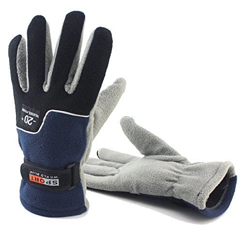 Winter Windproof Warm Gloves, Unisex Thick Fleece Cold Proof Anti-skid Glove for Ski Outdoor Cycling Fishing Camping