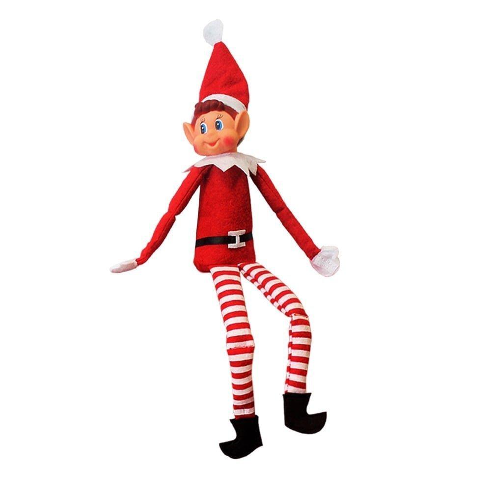 Christmas Elf.12 Inch Long Leg Soft Body Vinyl Face Elf With Hat Tag