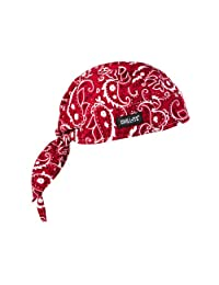 Chill-Its 6615 Absorptive Moisture-Wicking Dew Rag, Red Western