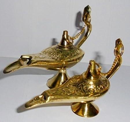 lampe /à huile Aladin Chirag Genie Br/ûleur dencens artcollectibles Inde meilleures ventes de cadeau de No/ël en Laiton Vintage