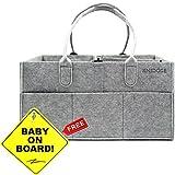Diaper Caddy for New Parents | Newborn Shower Gift Basket...