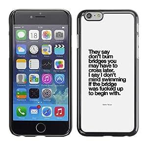 PC/Aluminum Funda Carcasa protectora para Apple Iphone 6 Plus 5.5 motivational inspirational poster black / JUSTGO PHONE PROTECTOR
