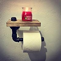 """Porta papel higiénico estilo industrial vintage decoración retro steampunk en tubería de hierro al carbón de 1/2"""""""