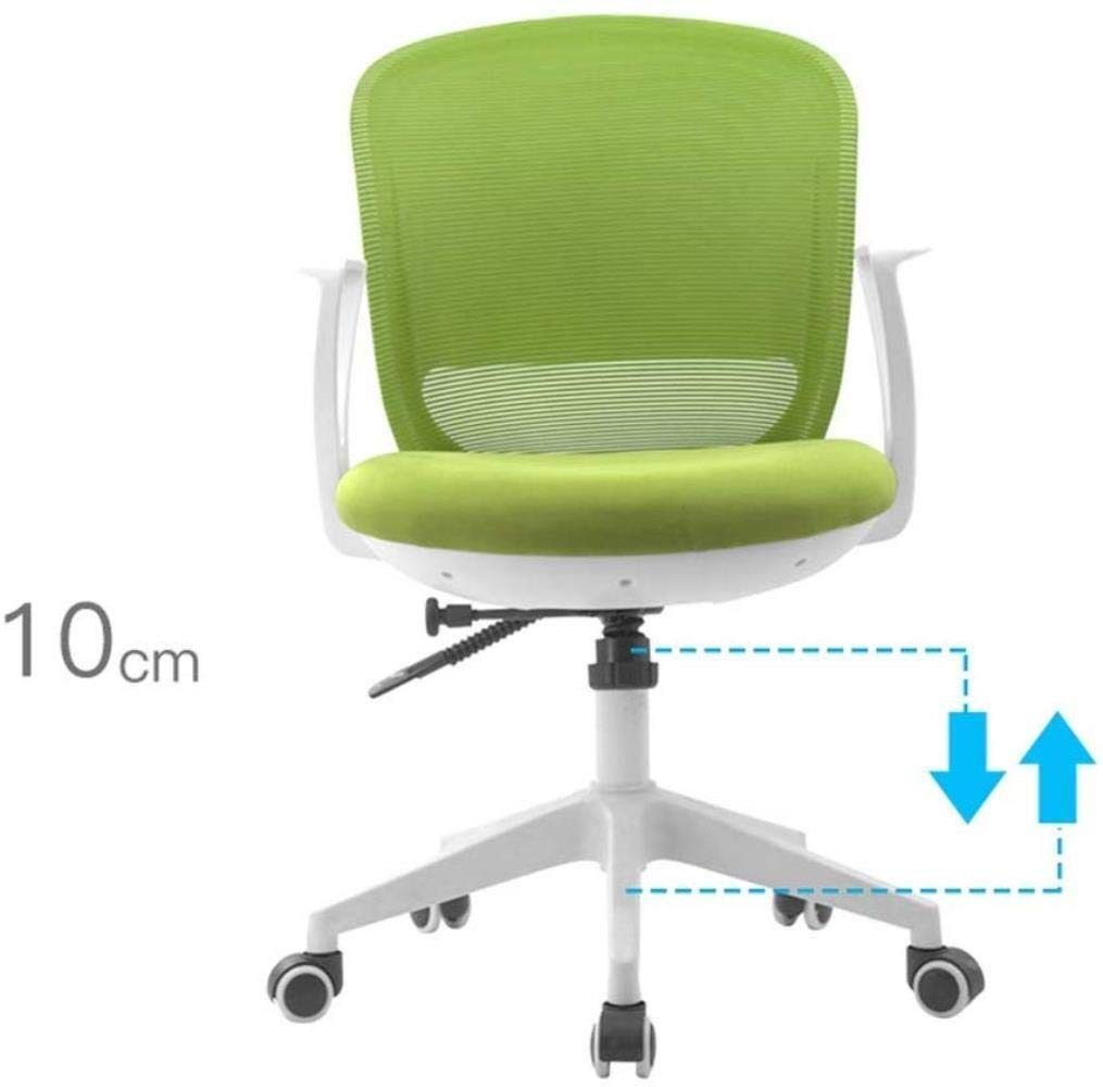 Barstolar Xiuyun kontorsstol spelstol svängbar stol, sömnad färg nät gasväv datorstol, ergonomisk lyftstol, skrivbord skrivstol, personalstol, sovsal stol (färg: A) a