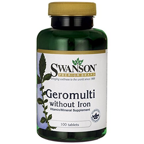 Swanson Geromulti without Iron (Multivitamin for Seniors) 100 Tabs (Senior Multivitamins Tab 100)