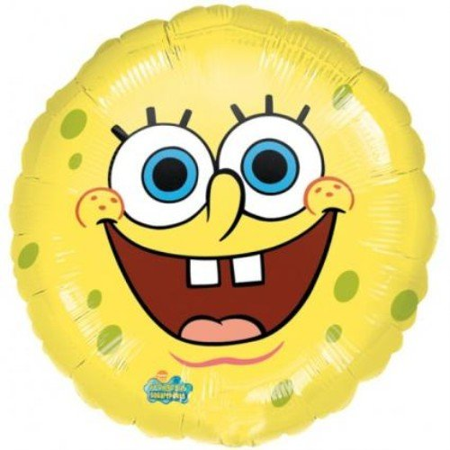Yellow Spongebob Squarepants Smiley Face 18 Mylar Foil Balloon Party