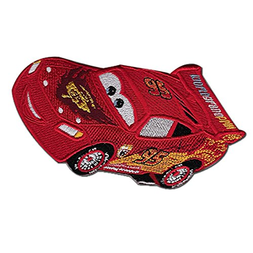 Cars Iron Disney - Cars 2 Winner's Circle Lightning McQueen EMBROIDERED PATCH Badge Iron-on,Sew On 5.5