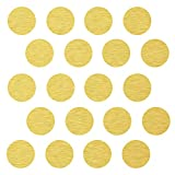 """(45) 4"""" Gold Polka Dot Decals - Removable Peel and Stick Circle Wall Decals for Nursery, Kids Room, Mirrors, and Doors"""
