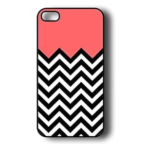 EVERMARKET(TM) iPhone 5 Case - Thin Shell Plastic Case iPhone 5 Case - Coral Plus Chevron by ruishername