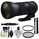 Tamron 150-600mm f/5-6.3 G2 Di VC USD Zoom Lens with UV & CPL Filters + Monopod + Kit for Nikon Digital SLR Cameras
