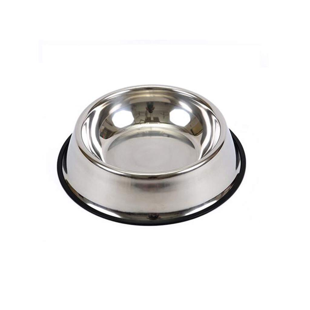 21.5cm5cm Creative Stainless Steel Food Bowl Large Basin Dog Bowl Large Dog Food Bowl Fashion Pet Supplies (Size   21.5cm5cm)