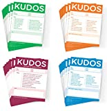 Kudos Notes - Set of 40 Note Pads in 4 Different Styles For Office & Classroom