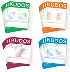 This assorted pack of Kudos Notes will have you covered - whether you to give kudos to colleagues, peers, students, or employees: * Kudos for Work (Orange) -- Use these clever notes liberally to boost learners' and colleagues' spirits, recogn...