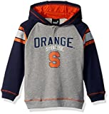 "NCAA by Outerstuff NCAA Syracuse Orange Kids ""Classic Stripe"" French Terry Hoodie, Heather Grey, Kids Large(7)"