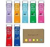 #9: Uni NanoDia Color Mechanical Pencil Leads, 0.7mm, 7 Colors, 7-pack/total 140 Leads, Sticky Notes Value Set