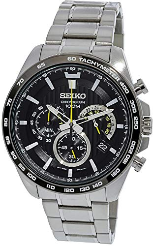 Seiko SSB303P1 Men's Black Dial Steel Bracelet Chronograph Watch