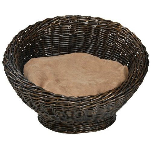 Basket Bed with Cusion For Cat or Small Dog 56 x 37 cm