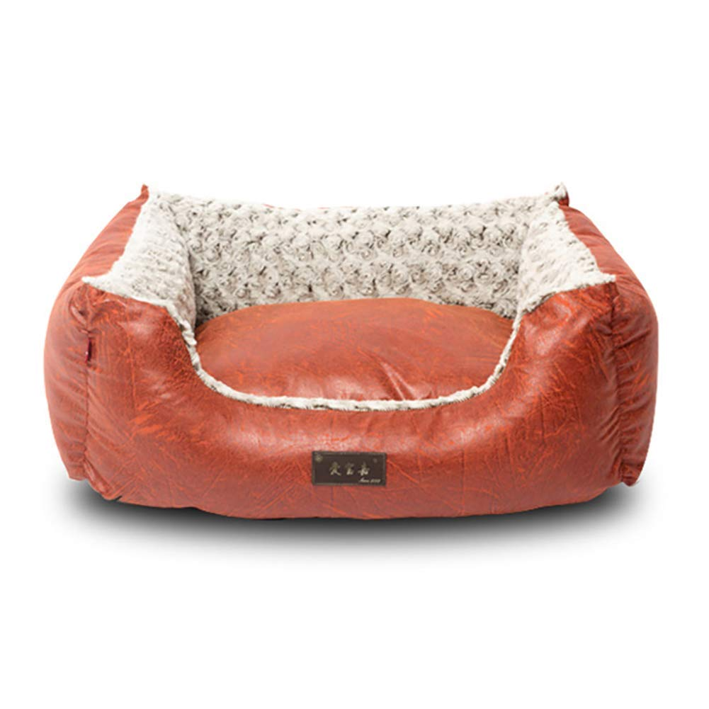 Red L(756523cm) Red L(756523cm) HeiPlaine Pet Sofa Pet Bed Sofa House for Dog Cat, Washable Covers, Durable, Available in All Seasons (color   Red, Size   L(75  65  23cm))