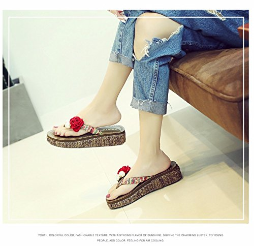 da ciabatte Marea spiaggia infradito XZ estate scarpe estate infradito LIUXINDA estate donna scarpe red CnRxTY